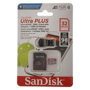 SanDisk Ultra Plus 32 GB Class 10 kit MicroSDHC UHS-I Card with Adapter