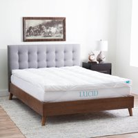 "Lucid 3"" Hypoallergenic High Plush Down Alternative Fiber Bed Topper, Multiple Sizes"
