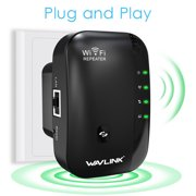 Wavlink N300 Wireless Wi-Fi Extender wifi Repeater Router/Acess point 300Mbps wifi signal amplifier wireless Signal Booster  802.11n/b/g WPS-Black