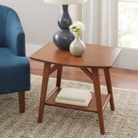 Better Homes & Gardens Reed Mid Century Modern Side Table, Pecan