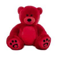 WOWMAX 3 Foot Giant Teddy Bear Danny Cuddly Stuffed Plush Animals Teddy Bear Toy Doll for Birthday Christmas Red 36 Inches