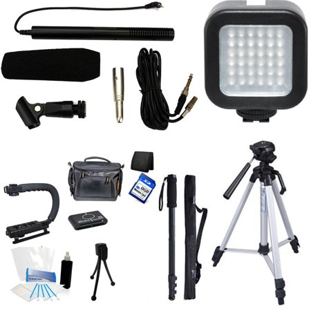 7-Piece Professional Video & Broadcast Shotgun Microphone Filmmaker Kit for Canon XA25, XA20 - Video Camera Shotgun Microphone
