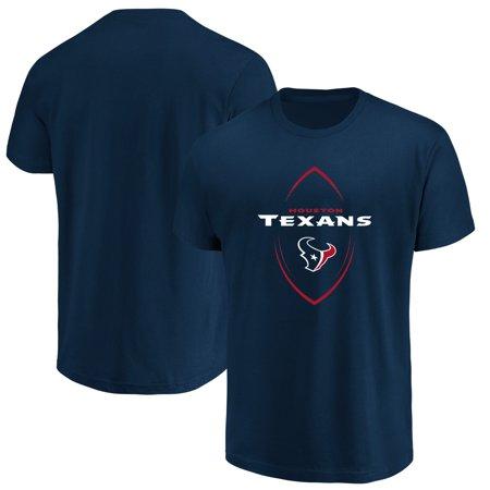 Houston Texans Majestic Maximized Crew Neck T-Shirt - Navy