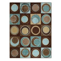 Better Homes and Gardens Circle Block Textured Print Area Rugs or Runner, Multiple Sizes and Colors