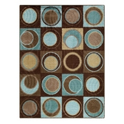 Better Homes & Gardens Circle Block Textured Print Area Rugs or Runner, Multiple Sizes and Colors