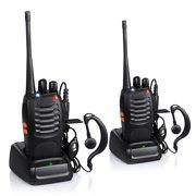 Zimtown 2Pcs Baofeng BF-888S 5W 400-470MHz 16CH Handheld Walkie Talkies + Free Headset