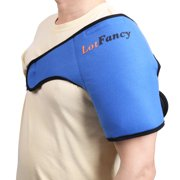Shoulder Ice Pack Wrap by LotFancy - Ideal Hot Cold Therapy for Injuries/Sprains Sore /Muscle and Joint Pain, FDA Approved (Large 11 x 5 inches)