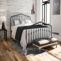 Novogratz Bushwick Metal Bed in Gray, Queen Size