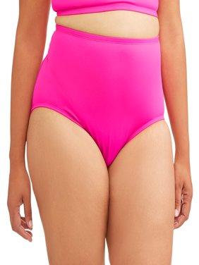 Women's Plus-Size High Waist Bikini Bottom