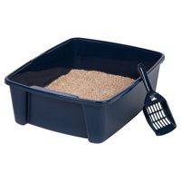 Iris Cat Litter Pan with Scoop, Navy