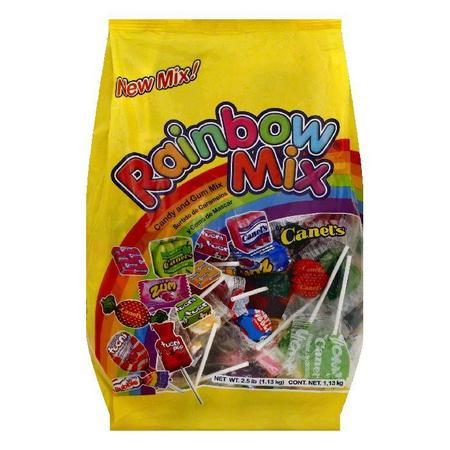 Canels Rainbow Mix Candy and Gum Mix, 2.5 lb (Pack of 12)