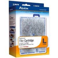 Aqueon Replacement Aquarium Filter Cartridges, Large, 3pk