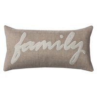 "Rizzy Home One Of A Kind Family Decorative Throw Pillow, 11"" x 21"""
