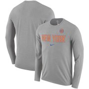 717537a87e6d8 New York Knicks Nike Essential Facility Slub Performance Long Sleeve T-Shirt  - Heathered Charcoal