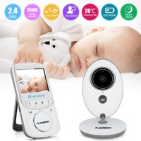 """Baby Monitor 2.0"""" TFT LCD Baby Monitor Video Camera with Night vision Two-Way Talking with Built-in Lullabies, White"""