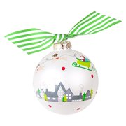 Coton Colors Merry Christmas to All Glass Ornament