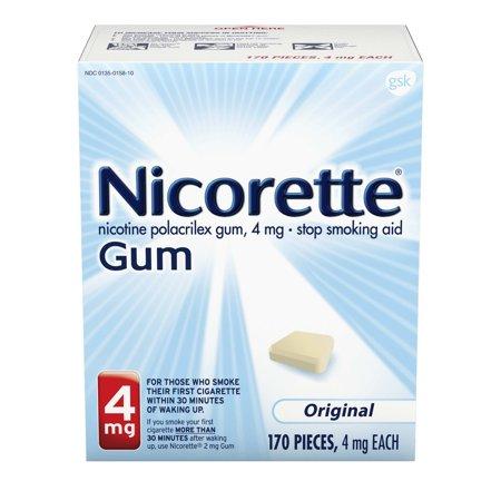 Nicorette Nicotine Gum to Stop Smoking, 4mg, Original, 170 Count