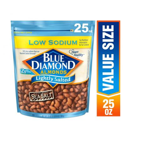 Blue Diamond Almonds, Lightly Salted 25 oz Almonds 16 Oz Jar