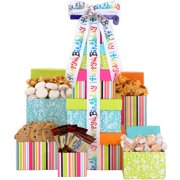 Alder Creek Gift Baskets Happy Birthday Treats Tower Set