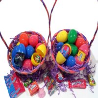 Bulk Hunt Filled Easter Eggs Quality Brand Candy Chocolate & Toys, Solid Colors