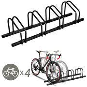 Gymax 4 Bike Bicycle Stand Parking Garage Storage Cycling Rack Black