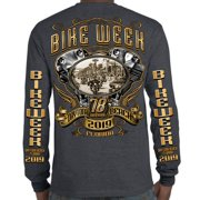 0ae717fe85 Biker Life 2019 Bike Week Daytona Beach Main Street Engine Long Sleeve T- Shirt