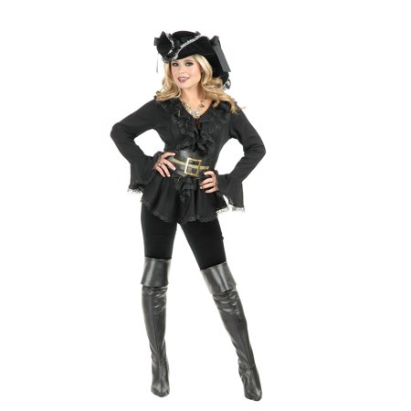 Halloween South Sea's Blouse Adult Black (Black Swan Halloween Outfit)