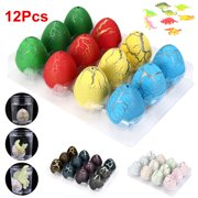 Meigar 12Pcs Big Magic Hatching Dinosaur Toys Hatch and Grow Dinosaur Eggs that Hatch in Water for Kids Children Toy Gift Party Supplies