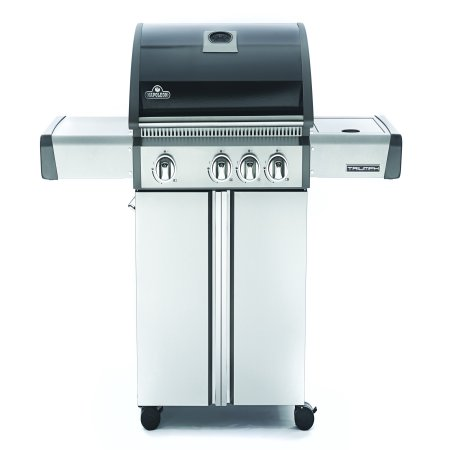 Napoleon Triumph® 410 LP Gas Grill with Side Burner, Black with Cover