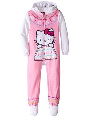 Girls' Hooded Fleece Blanket Sleeper Pajama, Sizes 4-10