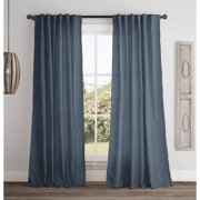 Vcny Home Broome 84 Length Solid Back Tab Window Curtains