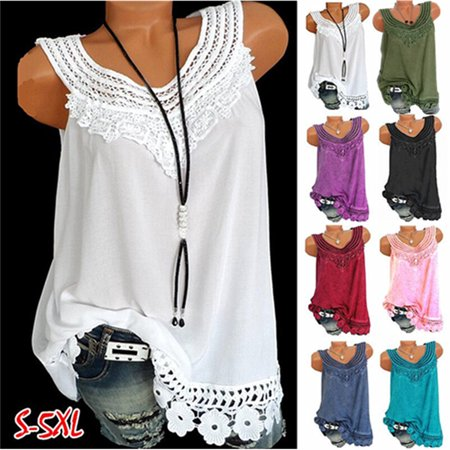 Summer Women Shirt Vest Fashion O-Neck Sleeveless Solid Colors Tank Tops Plus size - Fashion Angels.com