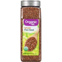 Great Value Organic Whole Flax Seed, 22 oz