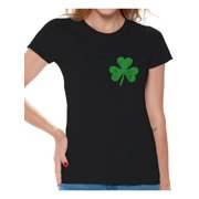 34ff59236 Awkward Styles Womens St. Patricks Day Shirt Irish Clover Pocket Shirt  Irish Pride Gifts for