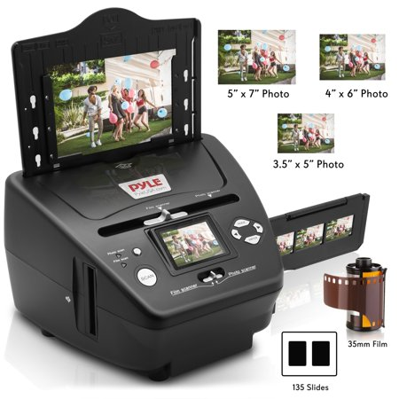 PYLE PSCNPHO53.5 - 3-in-1 Photo, Slide and Film Scanner - Digital Media Converter Copier for Pictures, Negatives & Slides ()