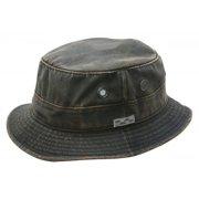 b7853211cedd53 Conner Hats Men's Weathered Cotton Bucket Hat Brown XL