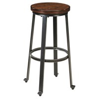 Signature Design by Ashley Challiman Tall Stool, Rustic Brown, Set of 2
