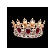 0f11ec7bdcb8 Antique 6cm High Sparkling Crystal Gold King Crown Tiara Wedding Prom  Pageant
