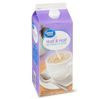 Great Value Ultra-Pasteurized, Grade A, Homogenized Half and Half, 0.5 Gallon, 64 Oz