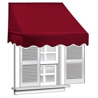 ALEKO 6' x 2' Window Awning Door Canopy (12 sq. ft Coverage), Burgundy Color