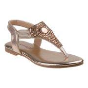 b767d1866 Kensie Girls Silver Sparkle Elastic Strap Trendy Flip Flop Sandals
