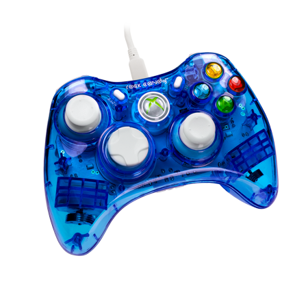 Pdp Rock Candy Xbox 360 Wired Controller Blueberry Boom 037 010 Na