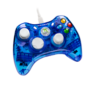 PDP Rock Candy Xbox 360 Wired Controller, Blueberry Boom, 037-010-NA-BL