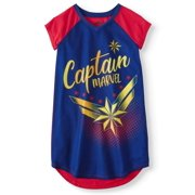 a41f421eab Girls  Captain Marvel Pajama Nightgown (Little Girl   Big ...