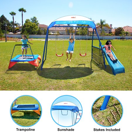 IronKids Inspiration 250 Fitness Playground Metal Swing Set ()