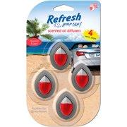 Refresh Your Car! 4-Pack Mini Diffuser, Hawaiian Escape
