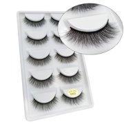 17fb3ef3113 5 Pairs 3D False Eyelashes Handmade Long Thick Natural Fake Eye Lashes Set  Mink Makeup