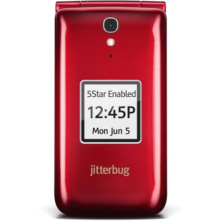 - GreatCall Jitterbug Easy-to-Use Cell Phone for Seniors, Red
