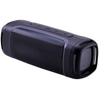 Blackweb Rugged Portable Bluetooth Speaker with Built-In Speakerphone, IPX5, 12-Hour Playtime