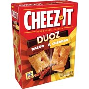 (2 Pack) Cheez-It Duoz Bacon & Cheddar Baked Snack Crackers 12.4 oz. Box